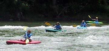 Kayaking on Shenandoah River
