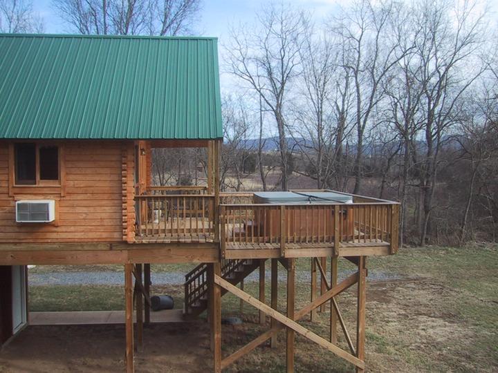 The sinker cabin shenandoah river log cabins nancy for Log cabins in shenandoah valley